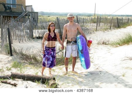 Couple Headed To Beach