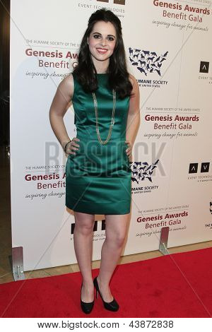 BEVERLY HILLS - MAR 23: Vanessa Marano at  the 2013 Genesis Awards Benefit Gala at The Beverly Hilton Hotel on March 23, 2013 in Beverly Hills, California