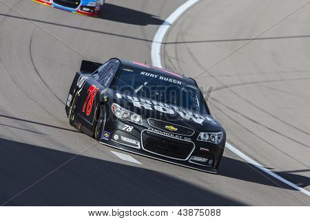 LAS VEGAS, NV - MAR 07, 2013:  Kurt Busch (78) brings his Furniture Row Chevrolet through the turns during the Kobalt Tools 400 at Las Vegas Motor Speedway in Las Vegas, NV on March 07, 2013.