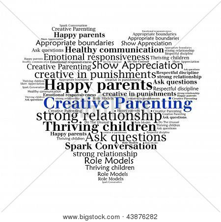 Creative Parenting n word collage