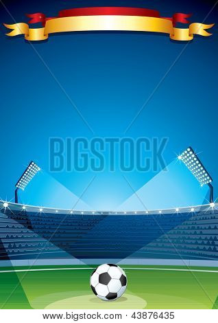 Soccer Stadium Vector Placard