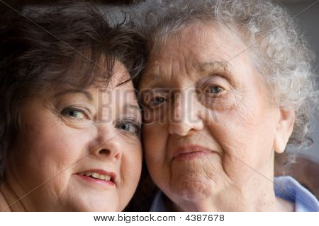 Mother And Daughter Close