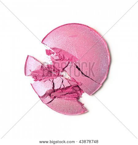 esmagado blush ou sombra rosa isolado no fundo branco