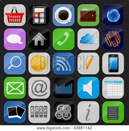 Apps icon set vector illustration
