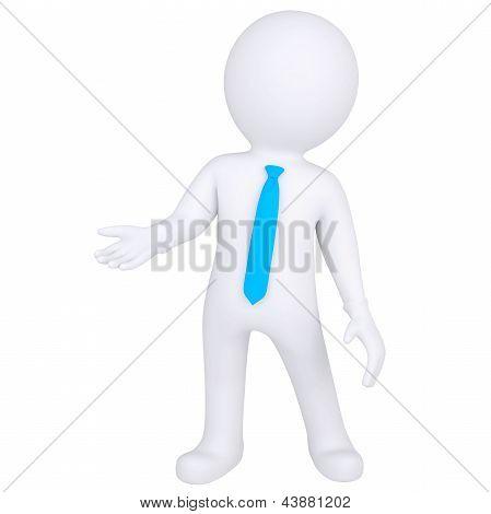 3d white man standing
