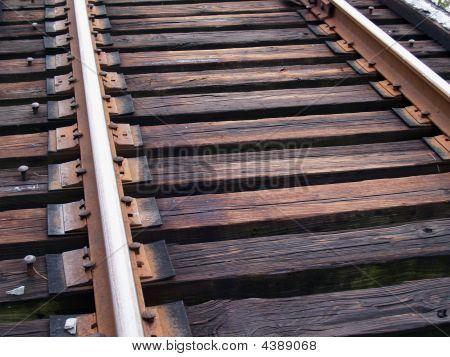 Train Tracks Up Close