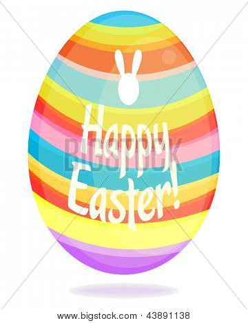 Easter egg vector illustration