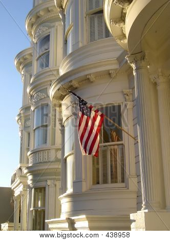 patriotische viktorianischen Haus in San francisco