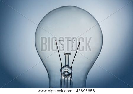 Close up of light bulb and filament bulb