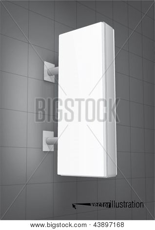 Illuminated shop signs light box, vertical rectangle with rounded corners