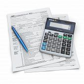 stock photo of cpa  - Tax Return 1040 - JPG