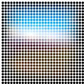 stock photo of spatial  - Dots abstract raster background - JPG