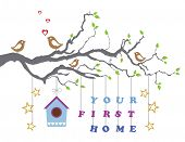 stock photo of home is where your heart is  - Your first home house moving - JPG
