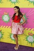 LOS ANGELES - MAR 23:  Ariana Grande arrives at Nickelodeon's 26th Annual Kids' Choice Awards at the
