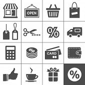 Shopping Icon Set. Simplus Serie