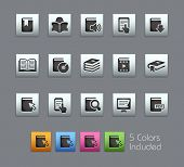 Book Icons // Satinbox Series -------It includes 5 color versions for each icon in different layers