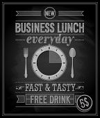 Bussiness Lunch Poster - Tafel. Vektor-Illustration.