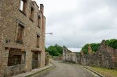 stock photo of panzer  - Destroyed Oradour sur Glane in the French Limousin - JPG