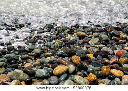 Colorful Stones at Seashore