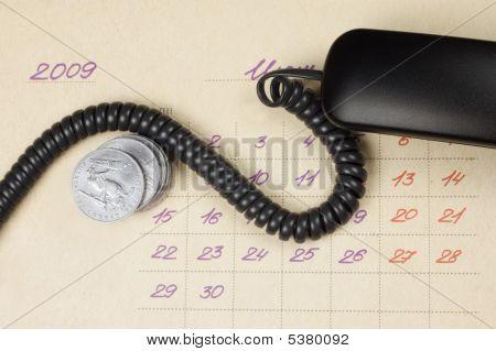 Concepto del negocio: Tiempo, dinero, comunicación