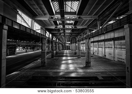 old abandoned industrial interior