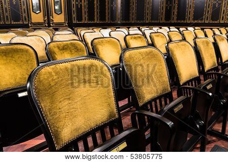 Chairs In An Old Theater