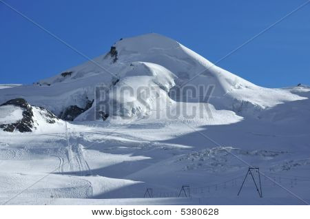 Empty Ski Slopes At Saas Fee