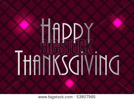 Happy Thanksgiving Abstract  Background, Vector Design