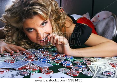 Poker And Girl