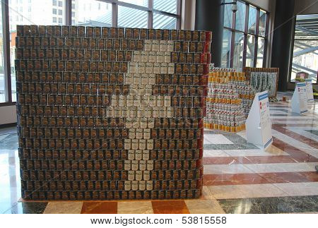 Food sculptures presented at 21st Annual NYC Canstruction competition in New York