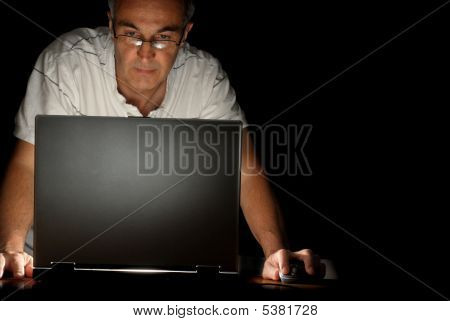 Man And His Laptop
