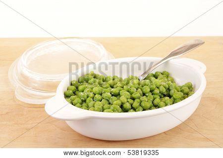 Snow Peas In Bowl