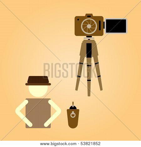 Remote Shooting Portrait Myself Concept