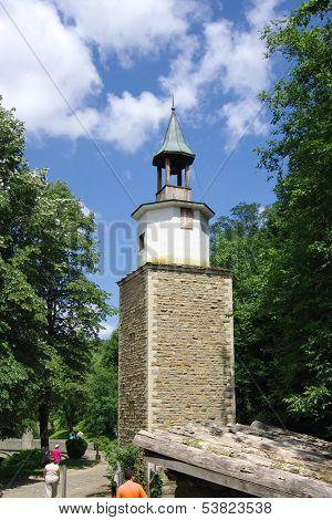 the Clock Tower In Etar Village Architectural-Ethnographic Complex, Bulgaria