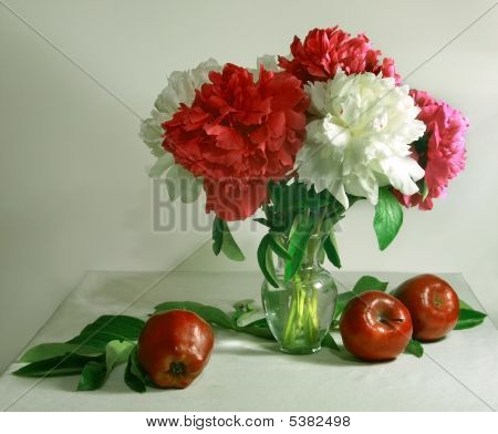 Peonie And Apples