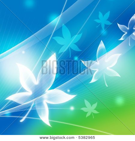 Abstract Background With Maple Leaf