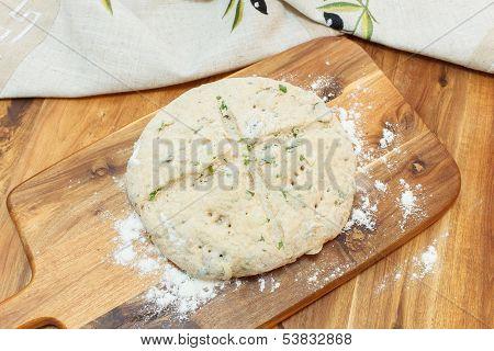 Raw Focaccia Dough