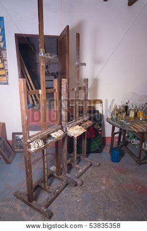 Easel In Painters Atelier