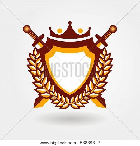 blazon design element emblem sign crest medallion