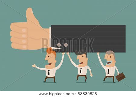 Business man thumb up , eps10 vector format