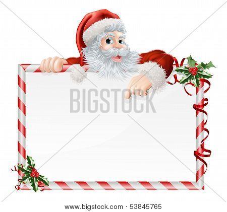 Santa Claus Cartoon Sign