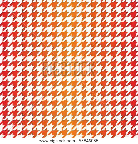 Houndstooth vector seamless pattern. Traditional Scottish plaid fabric for colorful gradient website