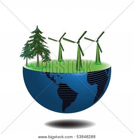 Eolian wind turbines