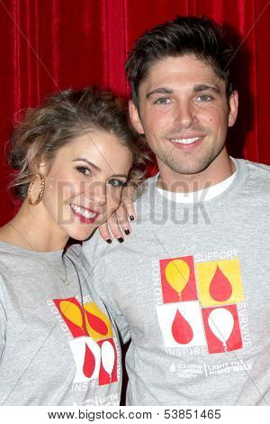 LOS ANGELES - OCT 6:  Linsey Godfrey, Robert Adamson at the Light The Night The Walk to benefit the Leukemia-Lymphoma Society at Sunset-Gower Studios on October 6, 2013 in Los Angeles, CA