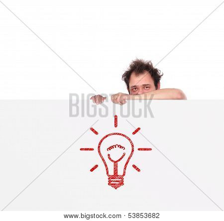 Poster With Light Bulb