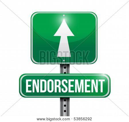 Endorsement Road Sign Illustration Design