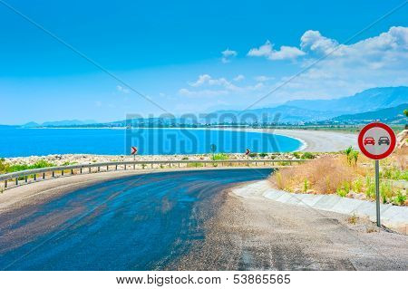 Road Leading From The Mountains To The Beach