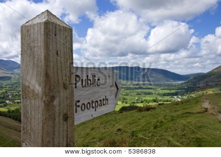 Lake District Sign