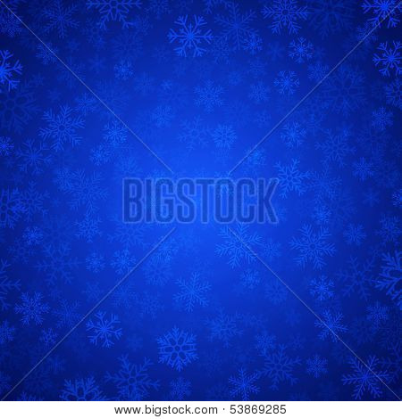 vector blue background with snowflakes