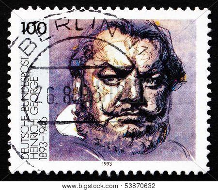 Postage Stamp Germany 1993 Heinrich George, Actor
